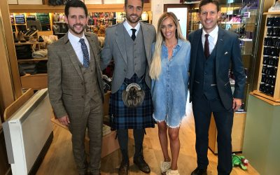 Love Island stars arrive in store for filming of ITV2's 'Aftersun'