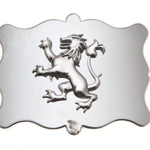 Kilt Buckle - Plain Lion Chrome