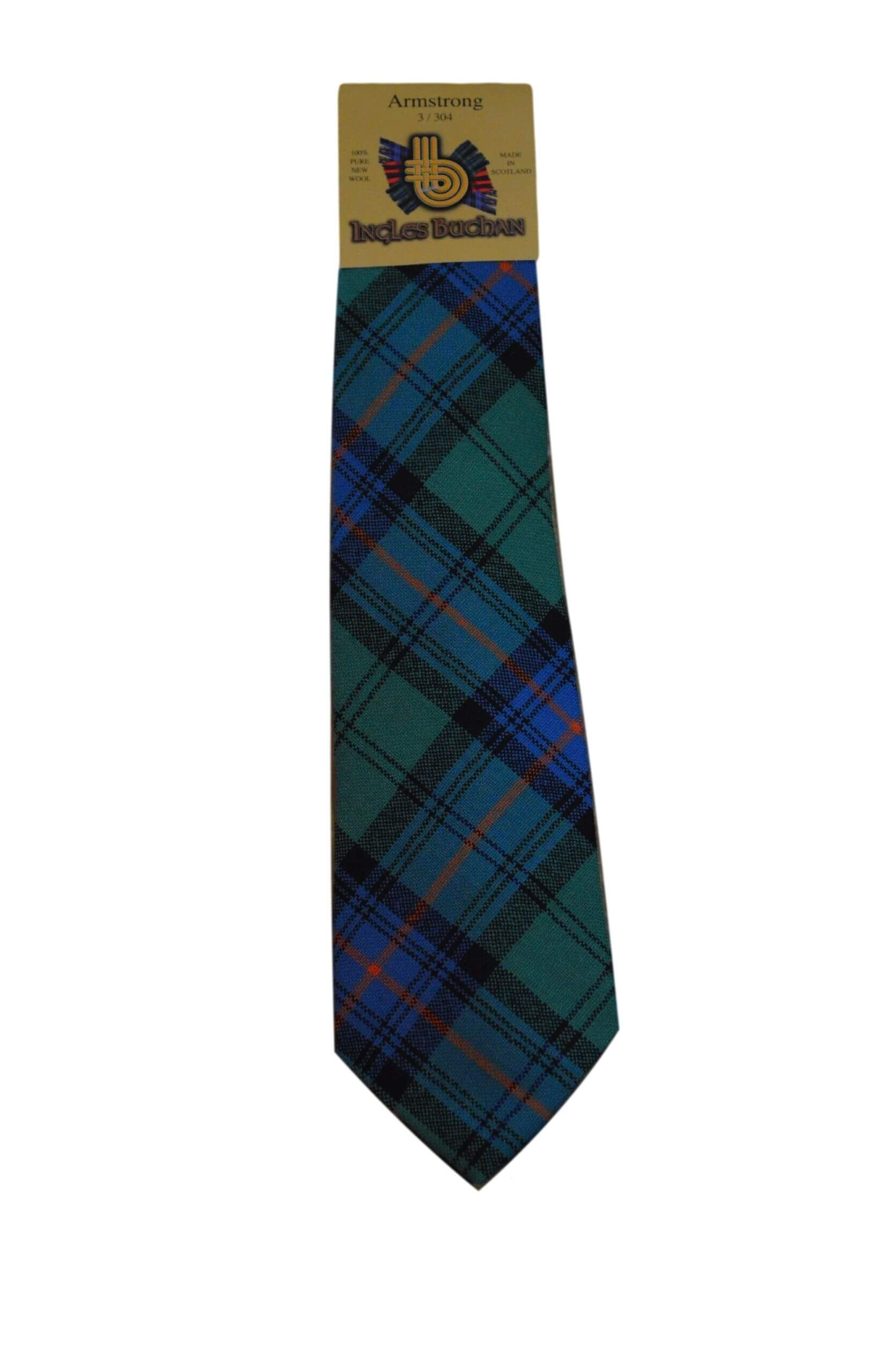 Men's Wool Tartan Tie - Armstrong Ancient - Green