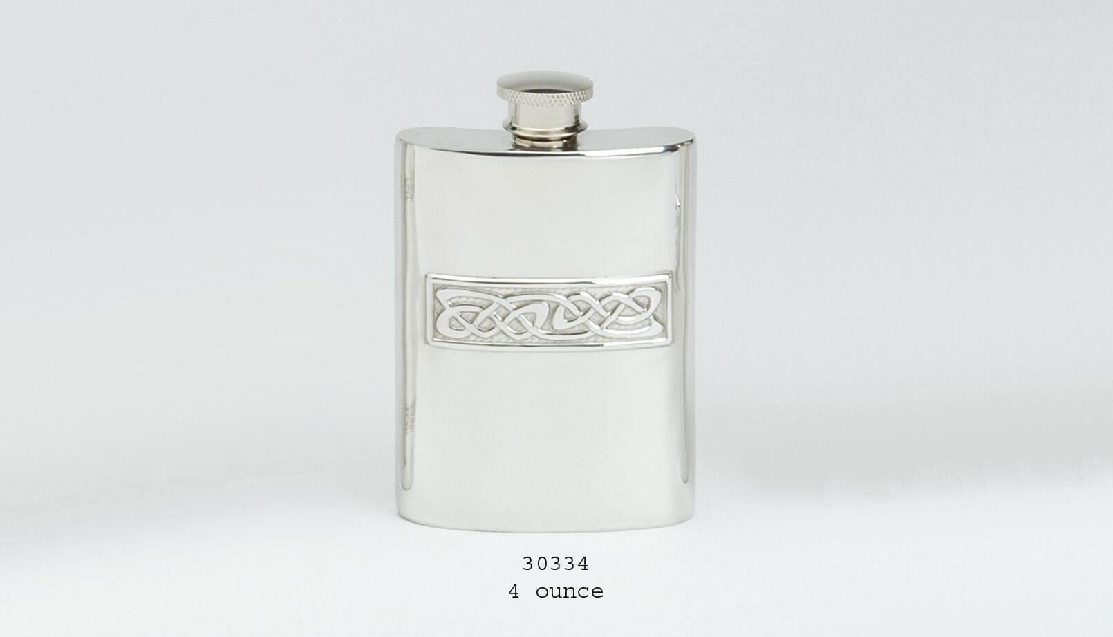 4oz Celtic Design Hipflask