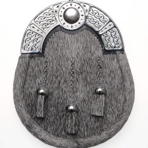 Celtic Dress Sporran Chrome Cantle