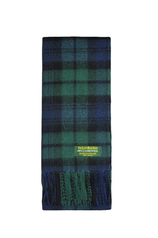 Black Watch Lambswool Tartan Scarf