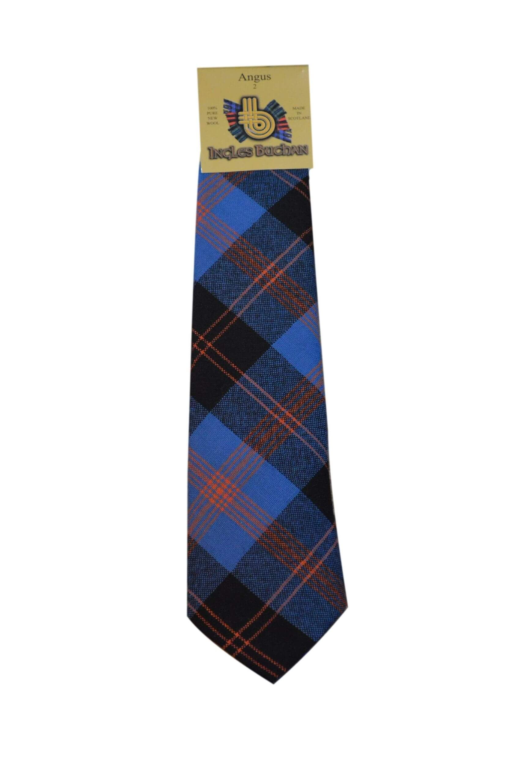 Men's Wool Tartan Tie - Angus Ancient