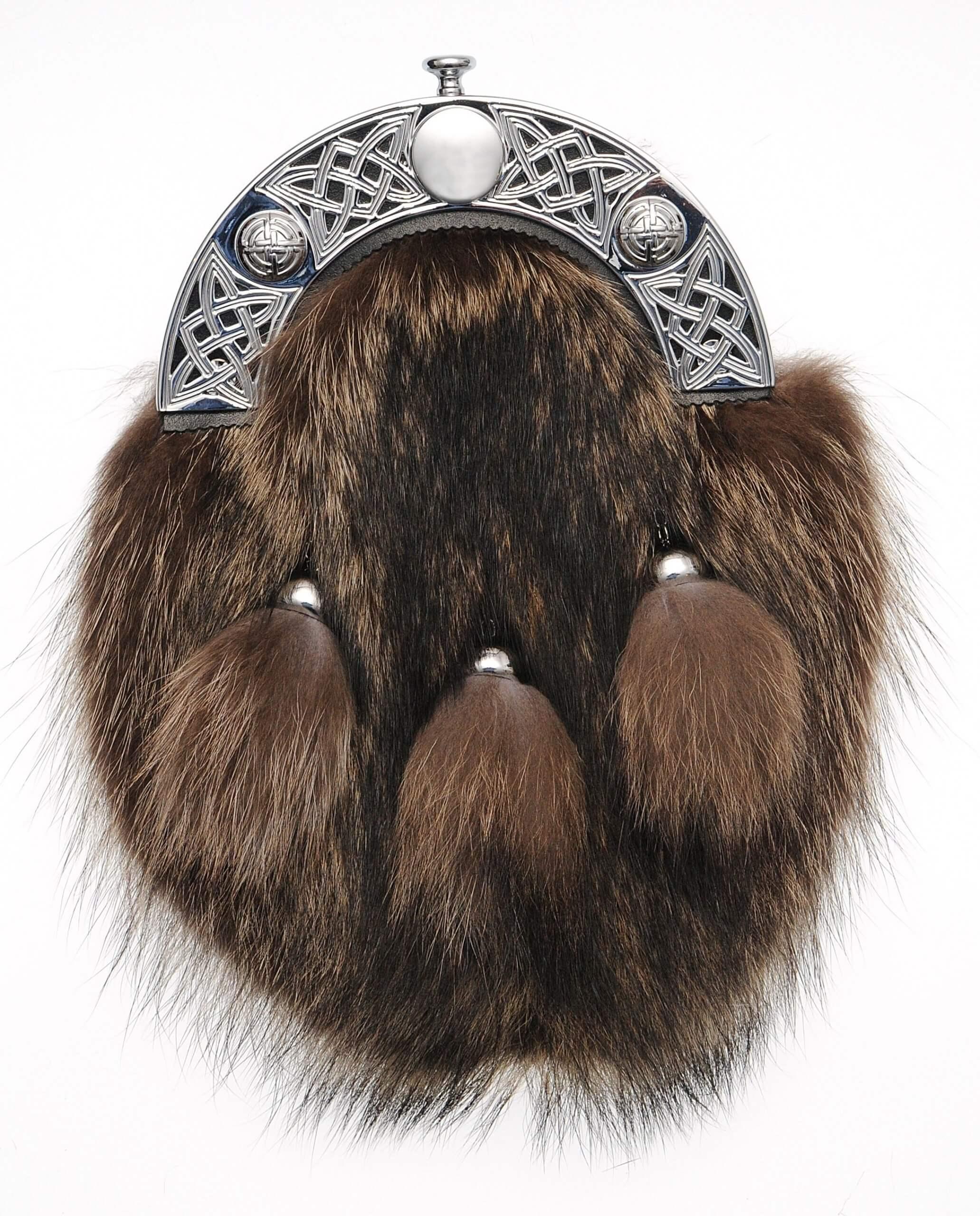 Racoon Fur Dress Sporran