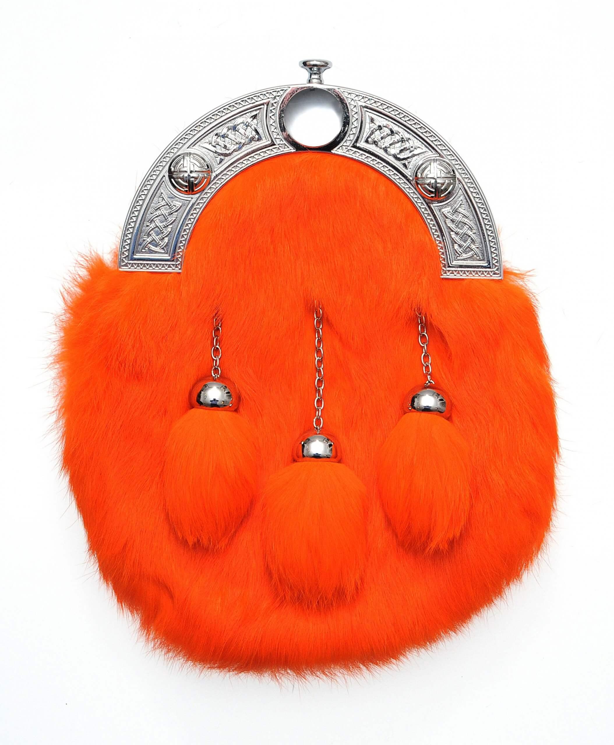 Dress Orange Rabbit Fur Sporran