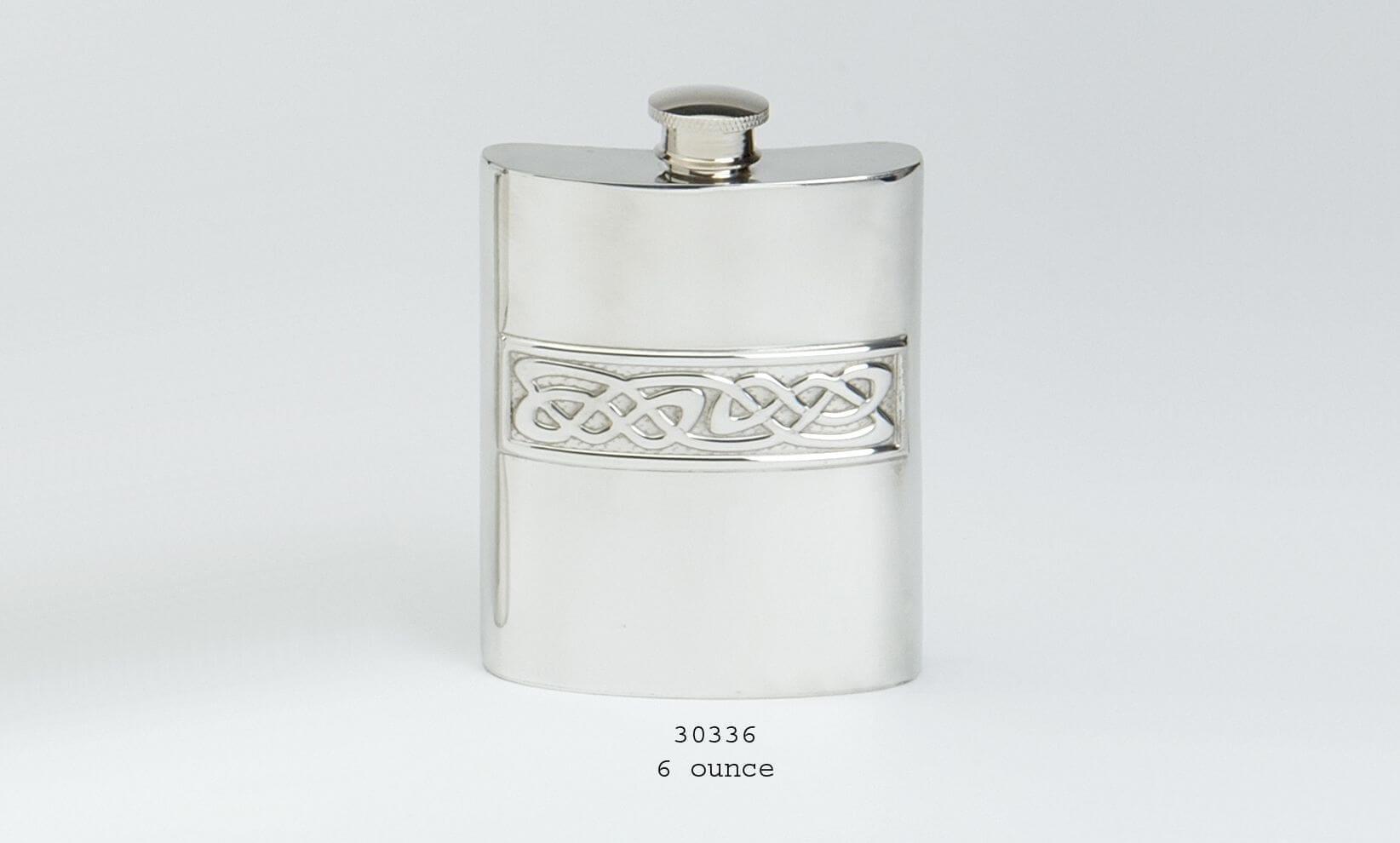 6oz Celtic Design Hipflask