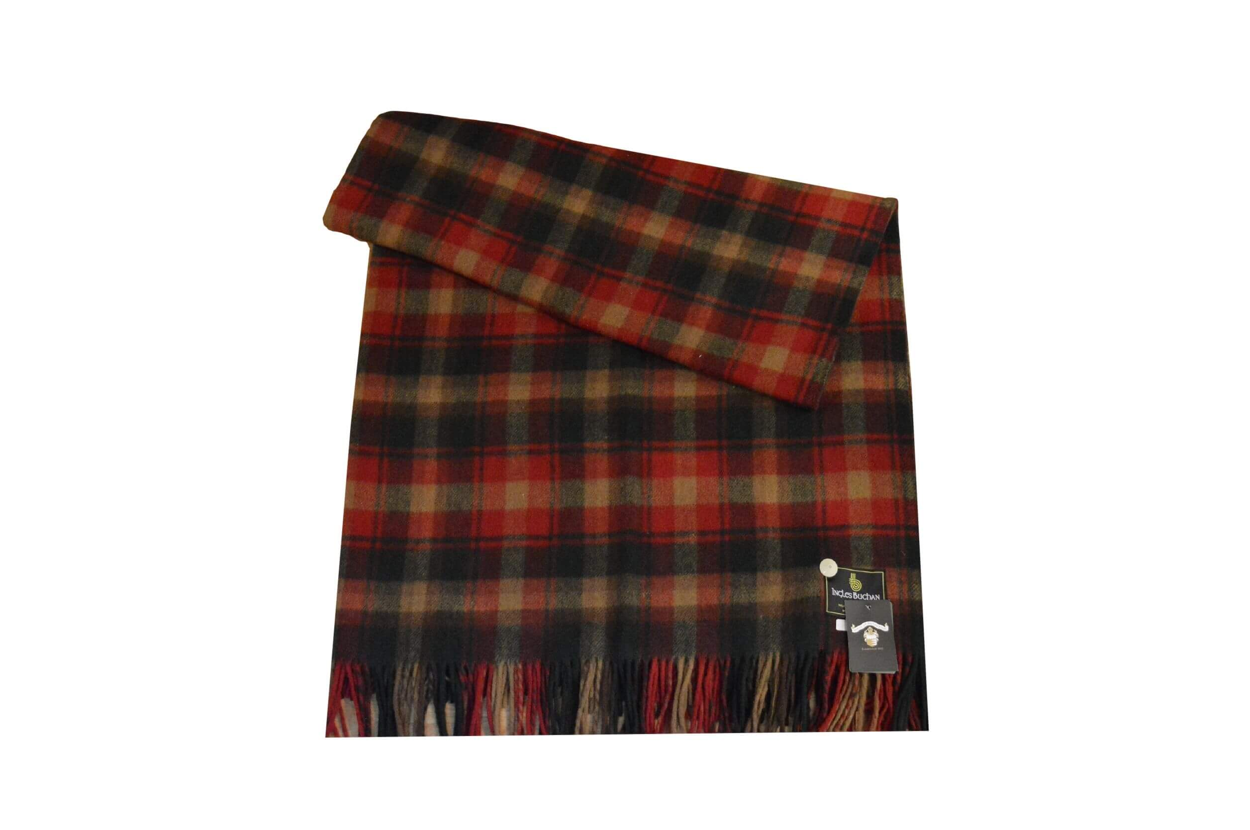 Maple Leaf Tartan Rug Throw