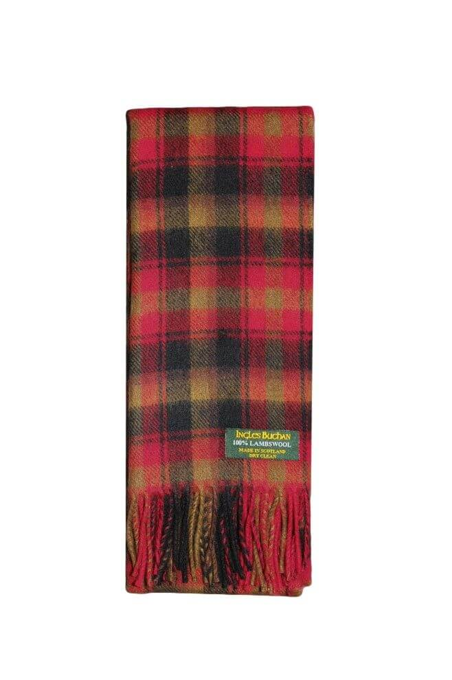 Maple Leaf Lambswool Tartan Scarf