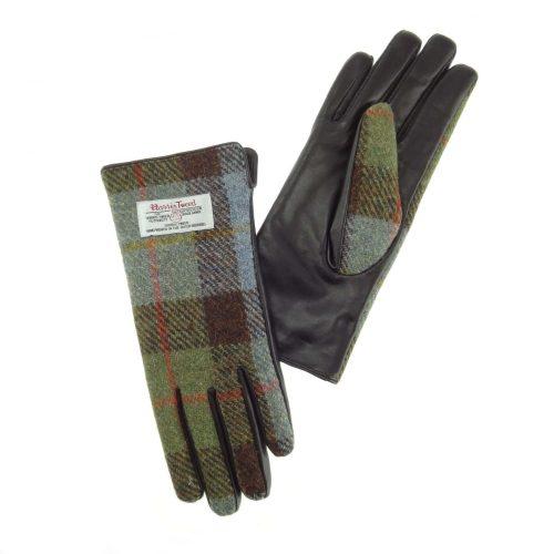 Ladies Tartan Harris Tweed Gloves
