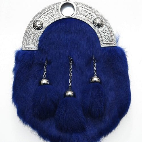Dress Blue Rabbit Fur Sporran