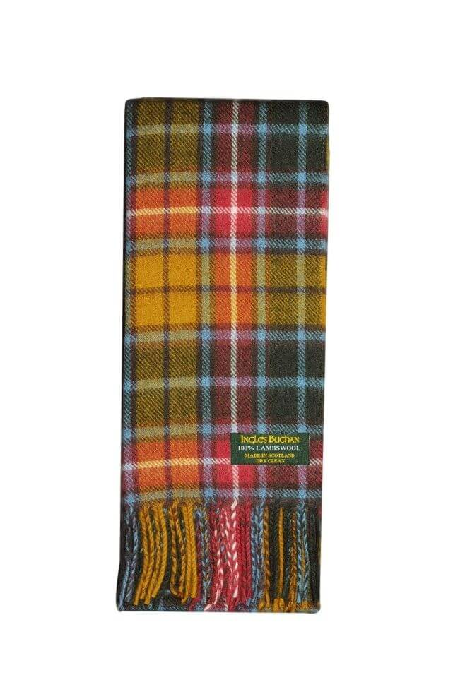 Buchanan Antique Lambswool Tartan Scarf
