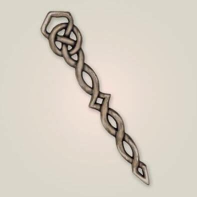 Antique Celtic Twist Kilt Pin APS 109ANT