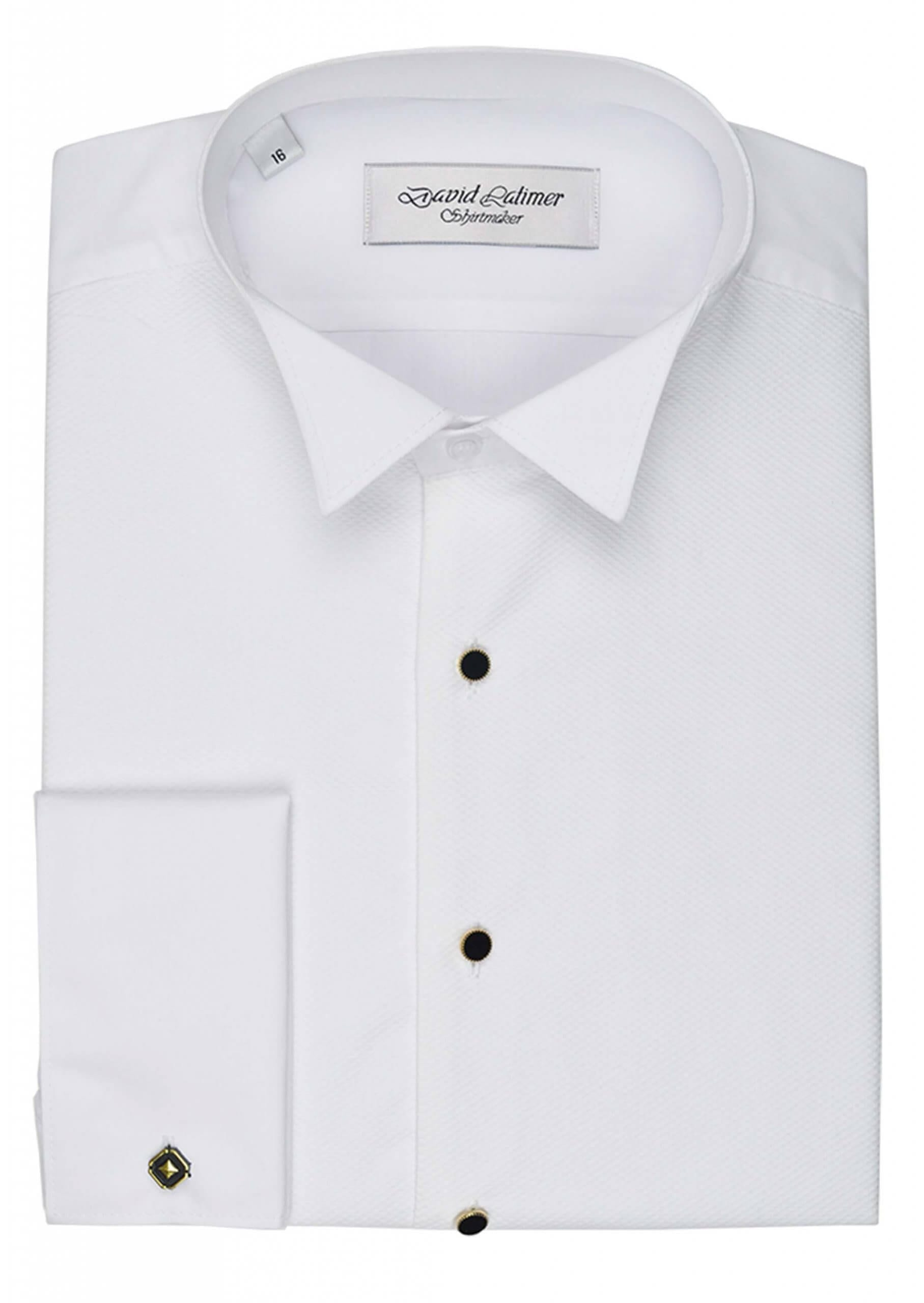 Marcella Front Dress Shirt with Studs, in Standard or Wing Collar