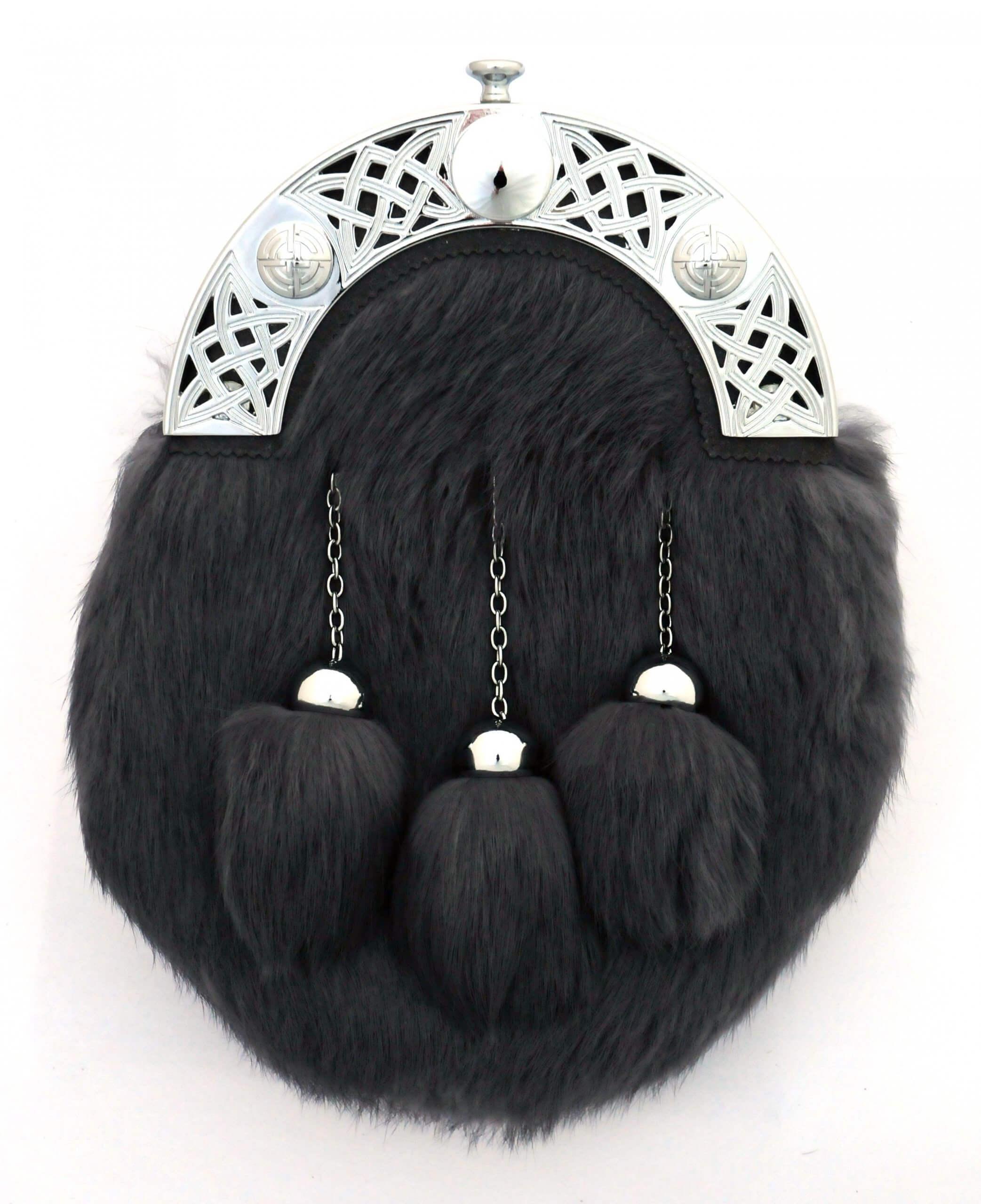 Grey Dress Rabbit Fur Sporran