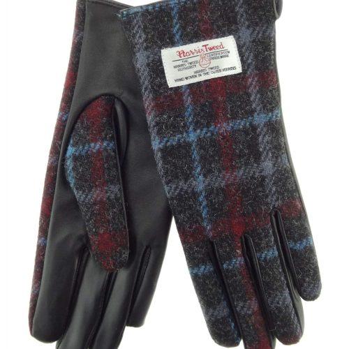 Ladies Check Harris Tweed Gloves