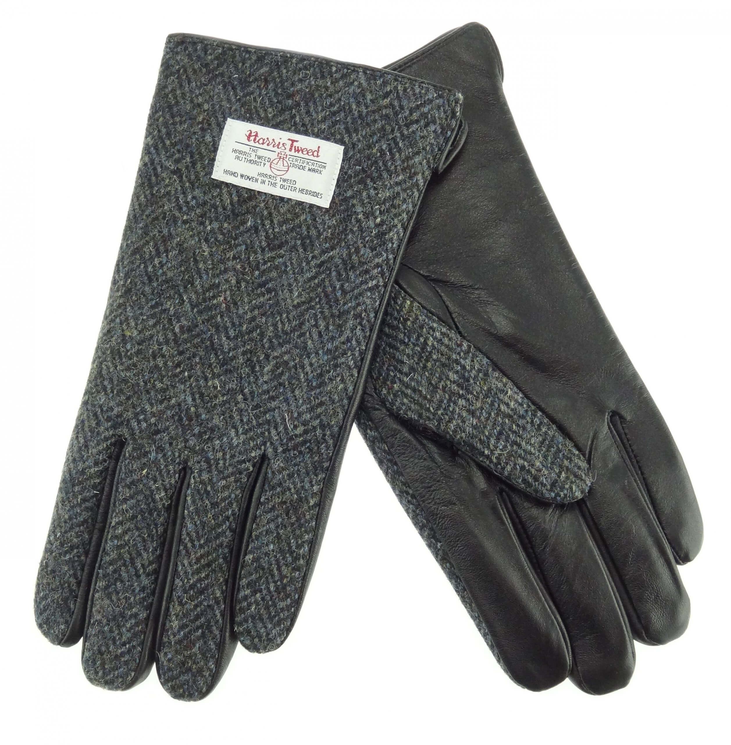 Gents Grey Harris Tweed Gloves