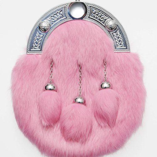Dress Pink Rabbit Fur Sporran