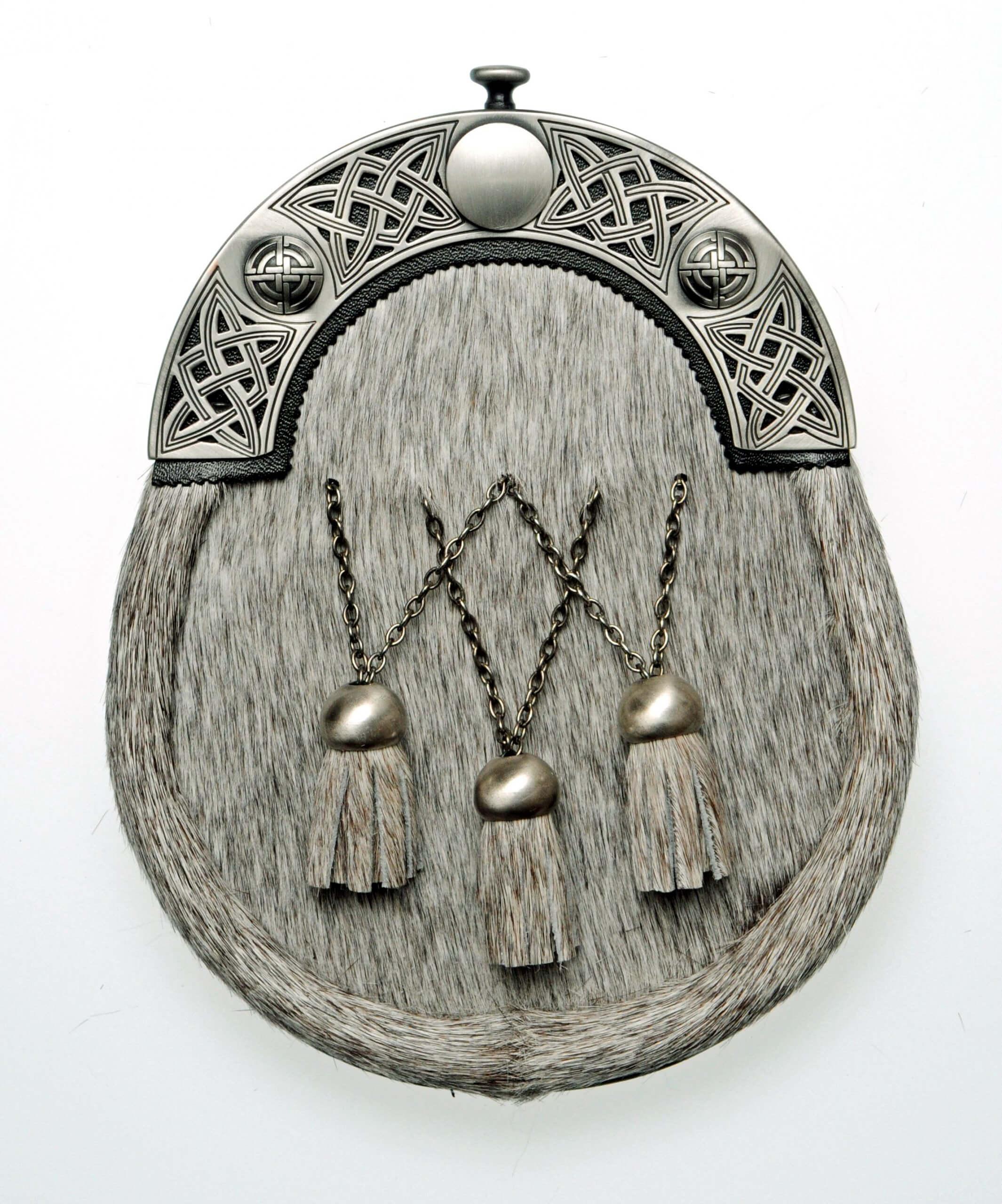 Celtic Weave Dress Sporran Interlink Tassel