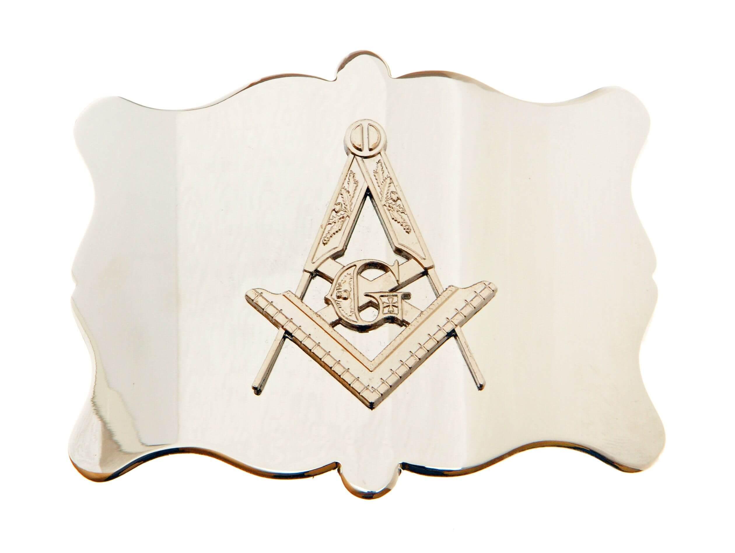 Kilt Buckle - Plain Masonic Chrome
