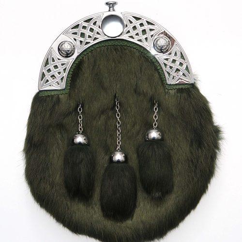 Dress Green Rabbit Fur Sporran