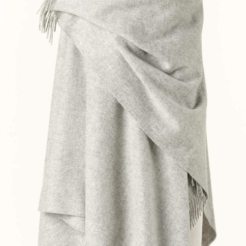 Ladies Silver Lambswool Shawl/Cape