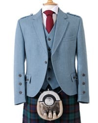 Lovat Blue Crail Kilt Jacket and Waistcoat