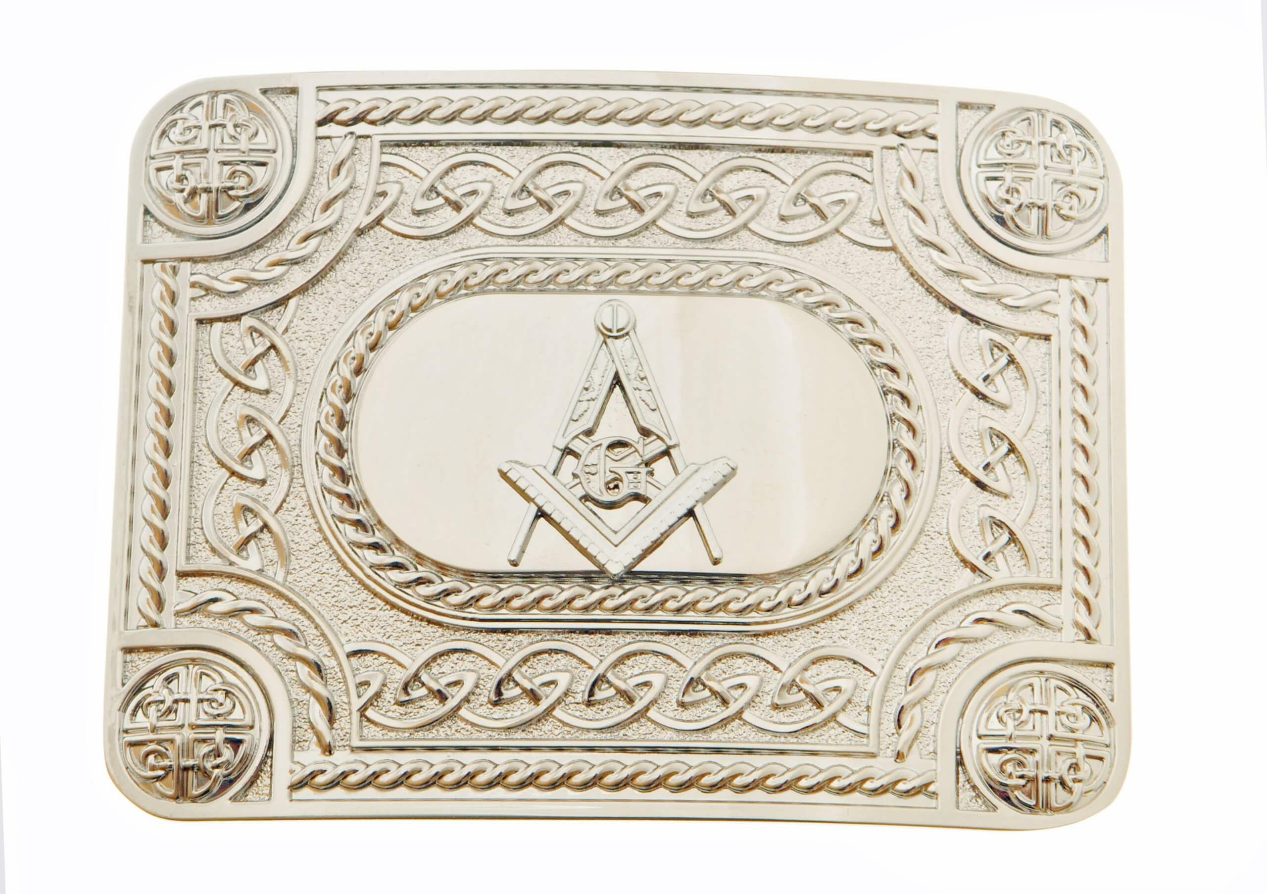Celtic Masonic Chrome Buckle
