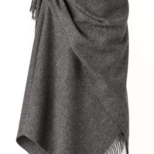 Ladies Grey Lambswool Shawl/Cape