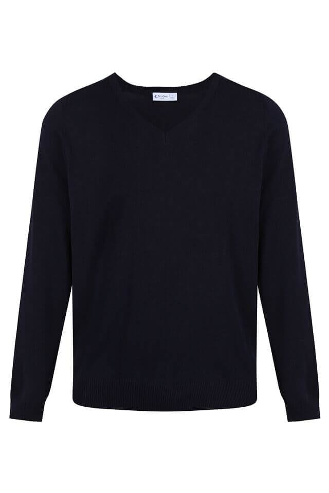 V Neck Jumper - Cotton Acrylic