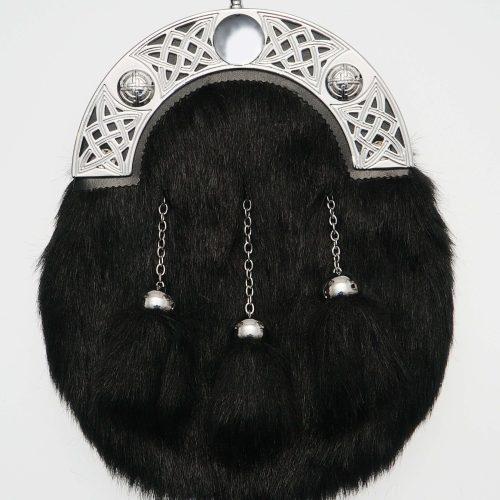 Dress Black Synthetic Fur Sporran