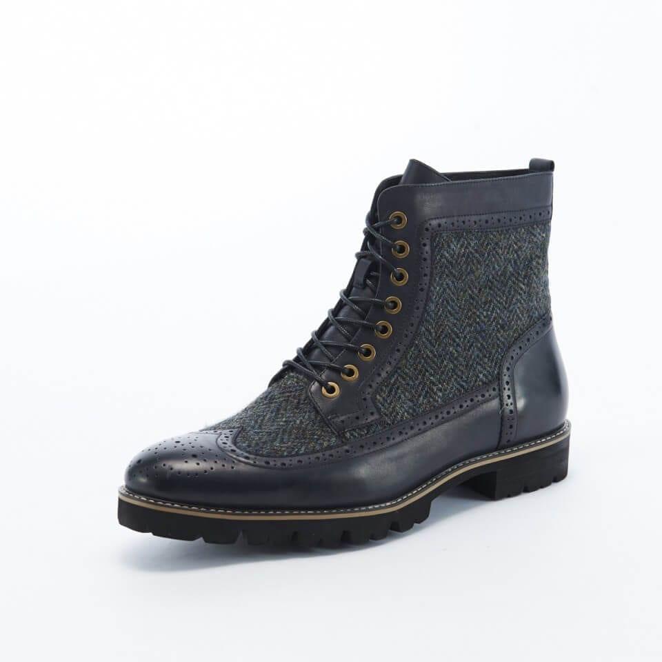 Harris Tweed Black Boots