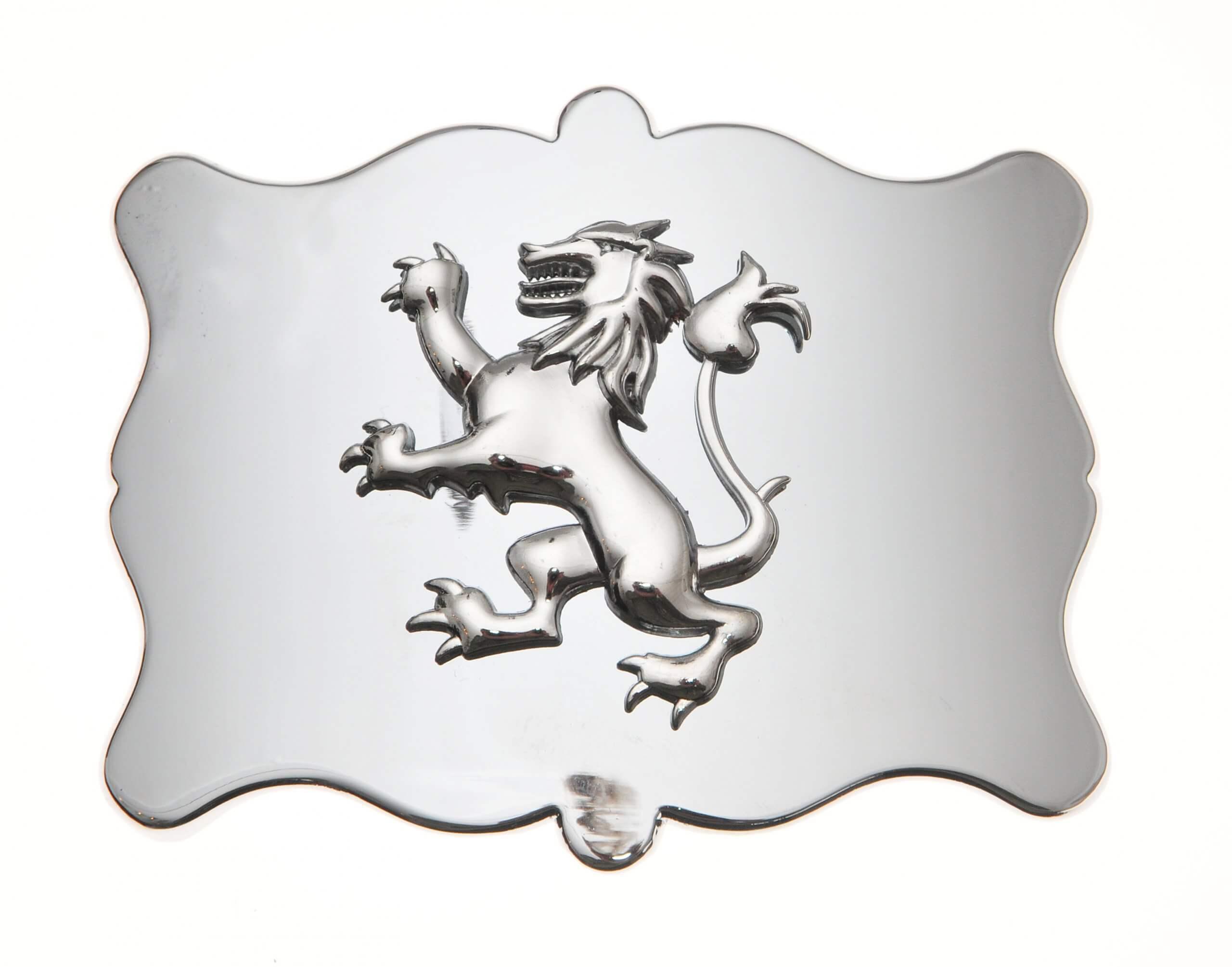 Plain Lion Chrome Buckle