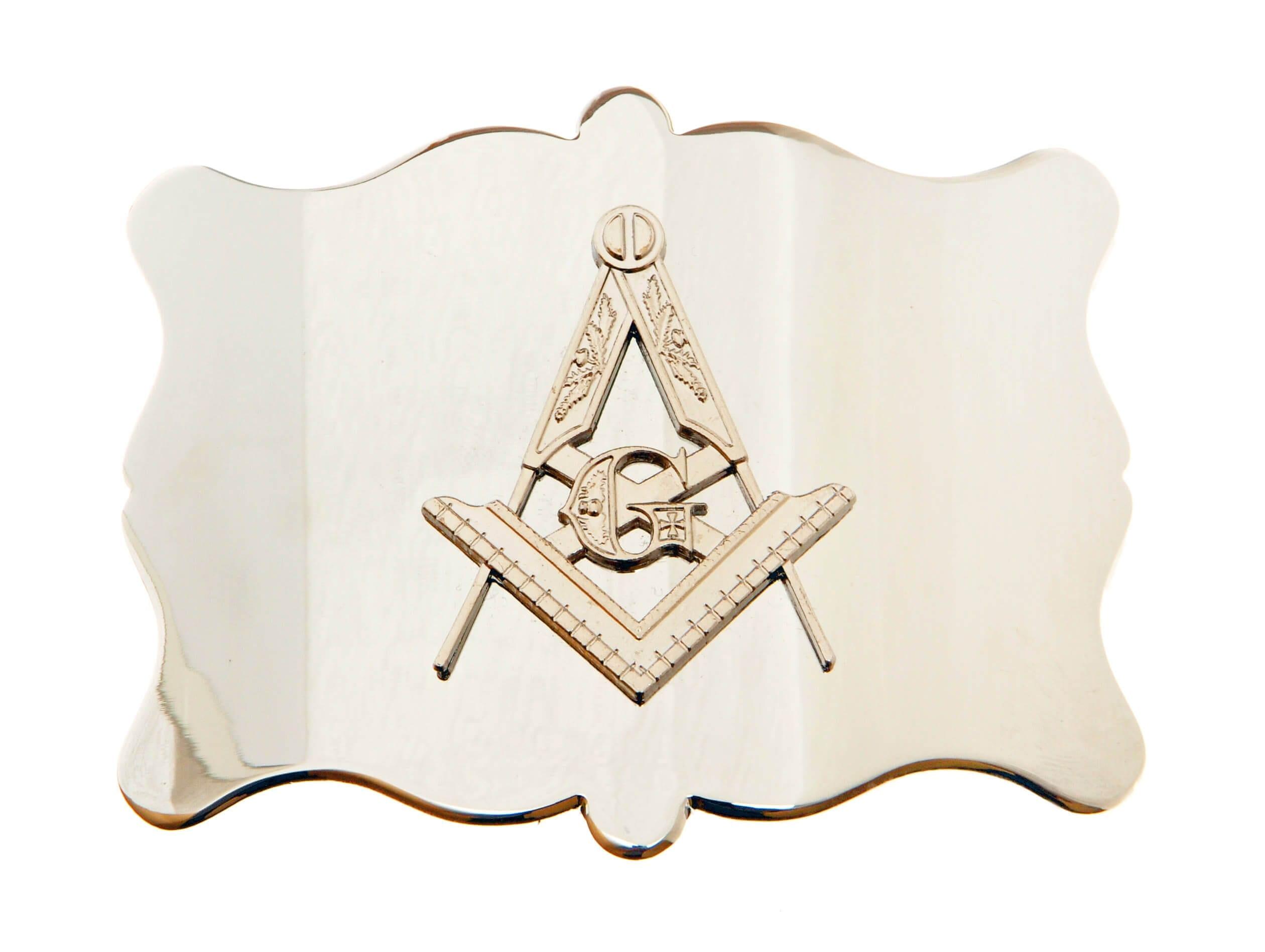 Plain Masonic Chrome Buckle
