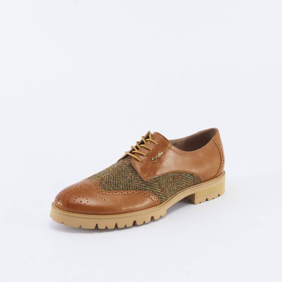 Harris Tweed Tan Shoes