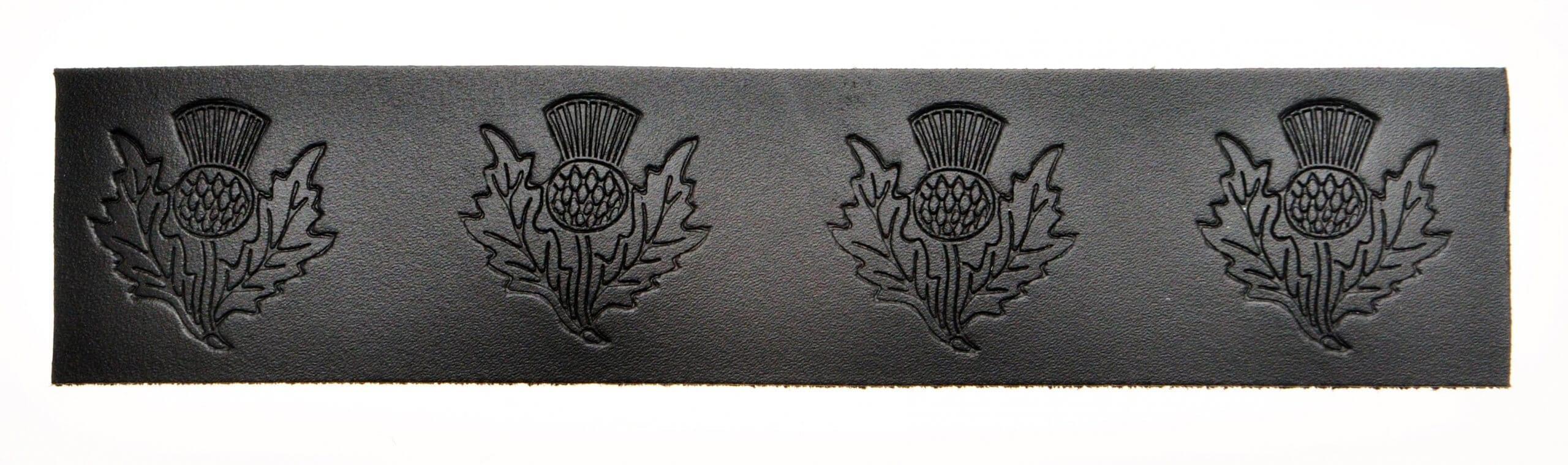 Velcro Belt - Embossed Thistle