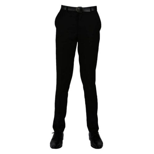 Boys Slim Trousers (Charcoal or Black)
