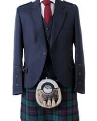 Navy Crail Kilt Jacket and Waistcoat