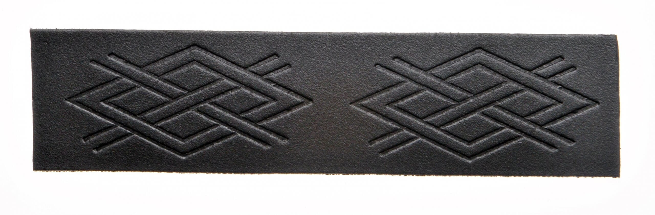 Velcro Belt - Embossed Criss Cross