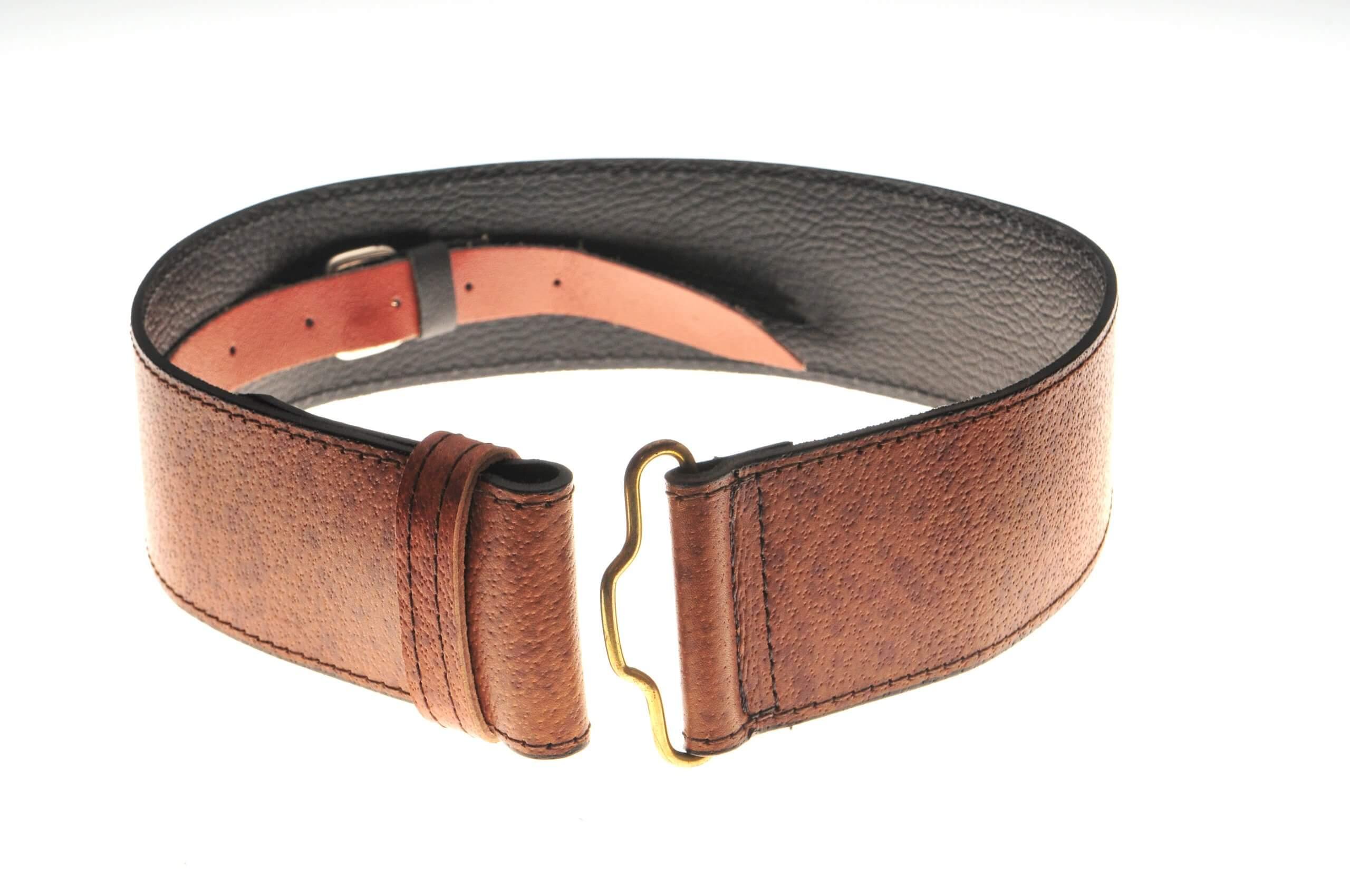 Khaki Pigskin Belt