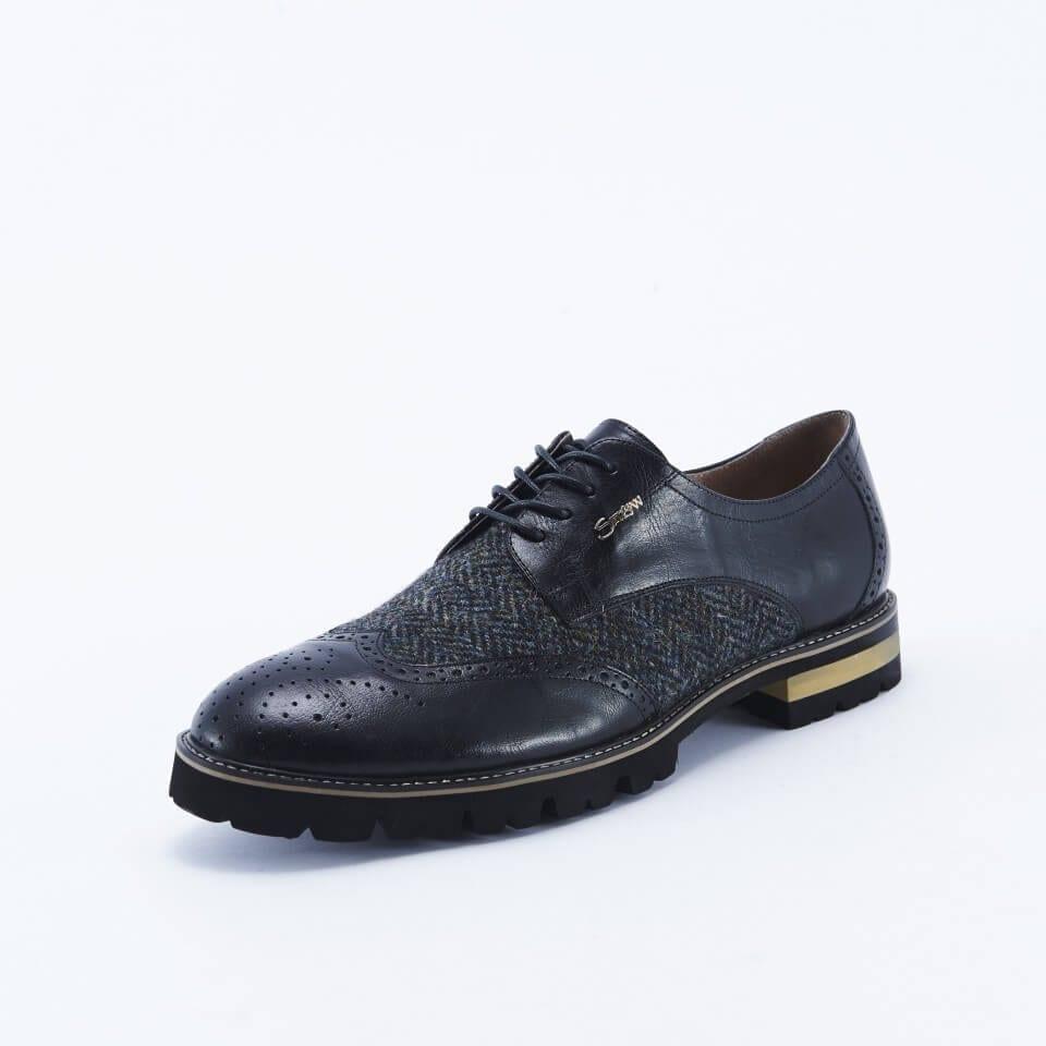 Harris Tweed Black Shoes