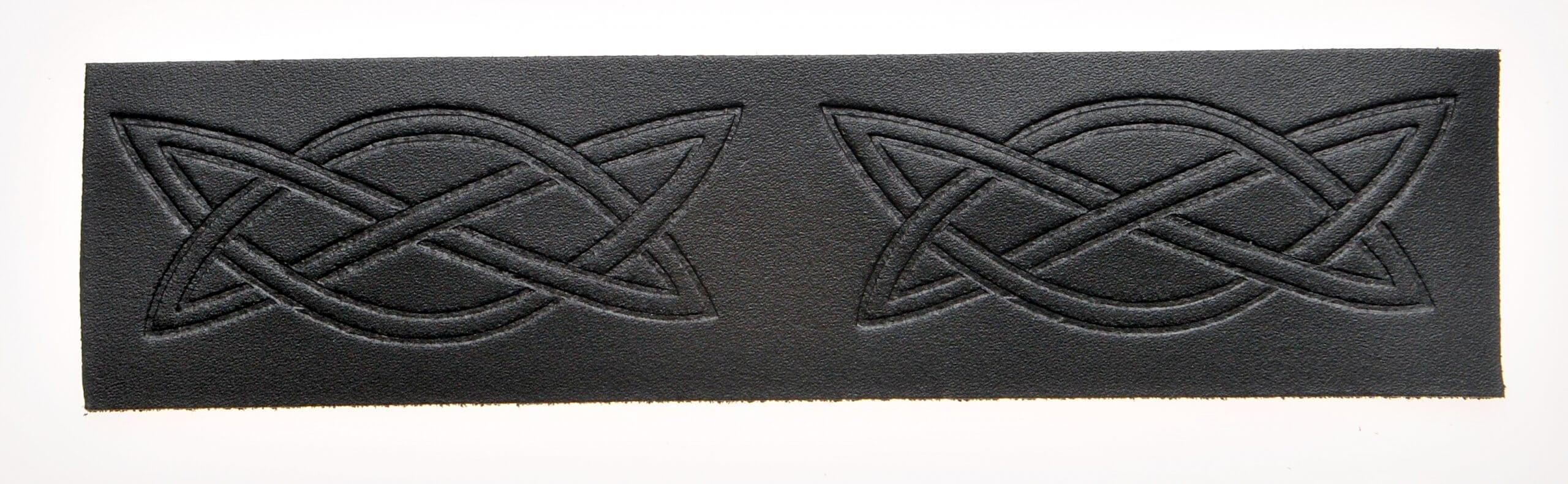 Velcro Belt - Embossed Gothic