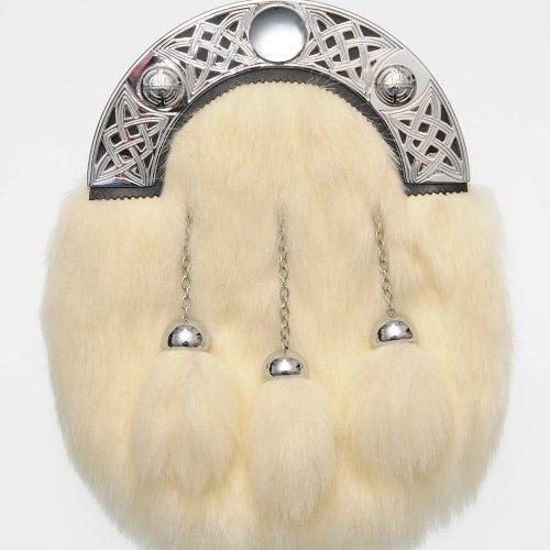 Dress White Synthetic Fur Sporran
