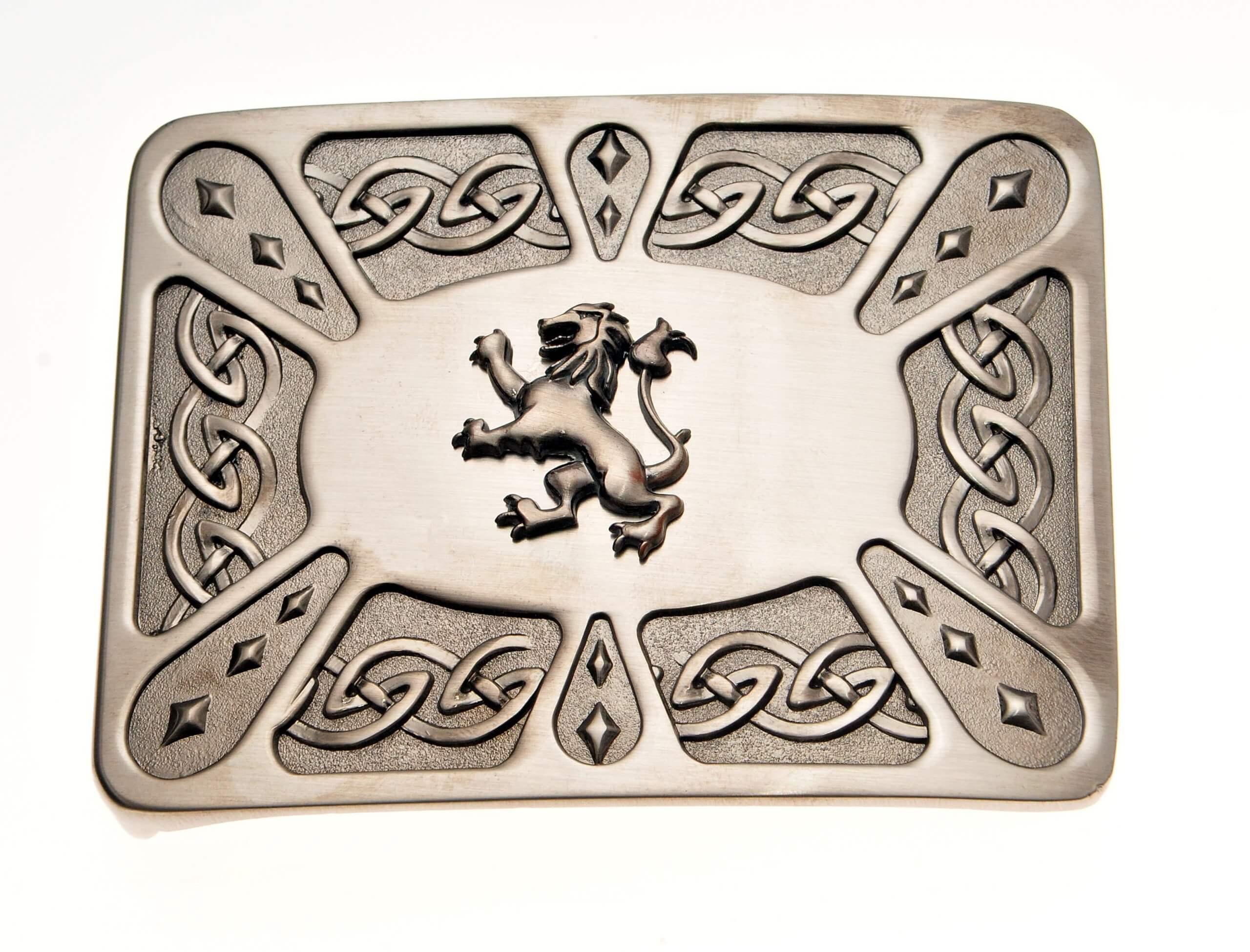 Kilt Buckle - Lion on Zoomorphic Antique