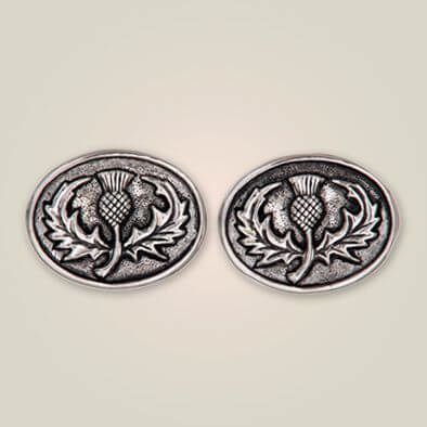 Thistle Oval Cufflinks APS 113