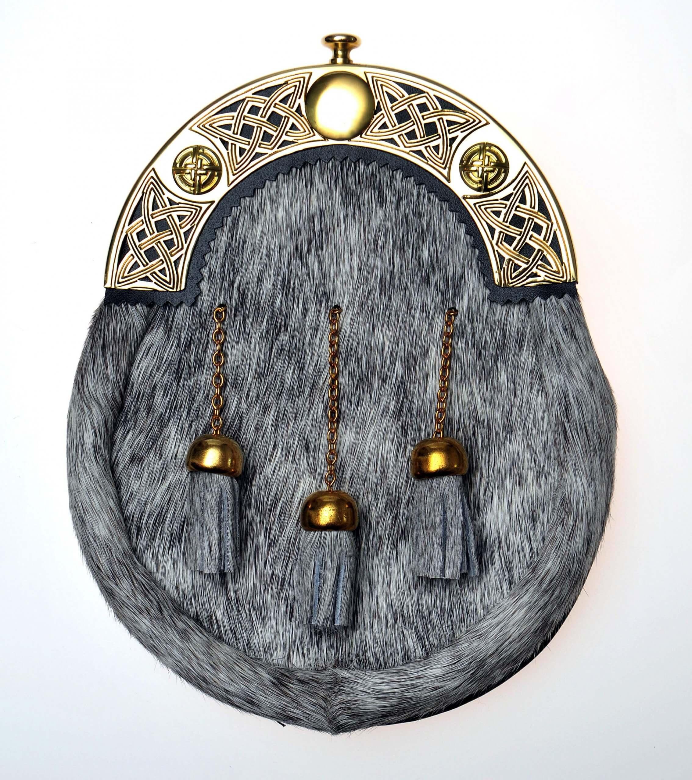 Brass Celtic Cantle Dress Sporran