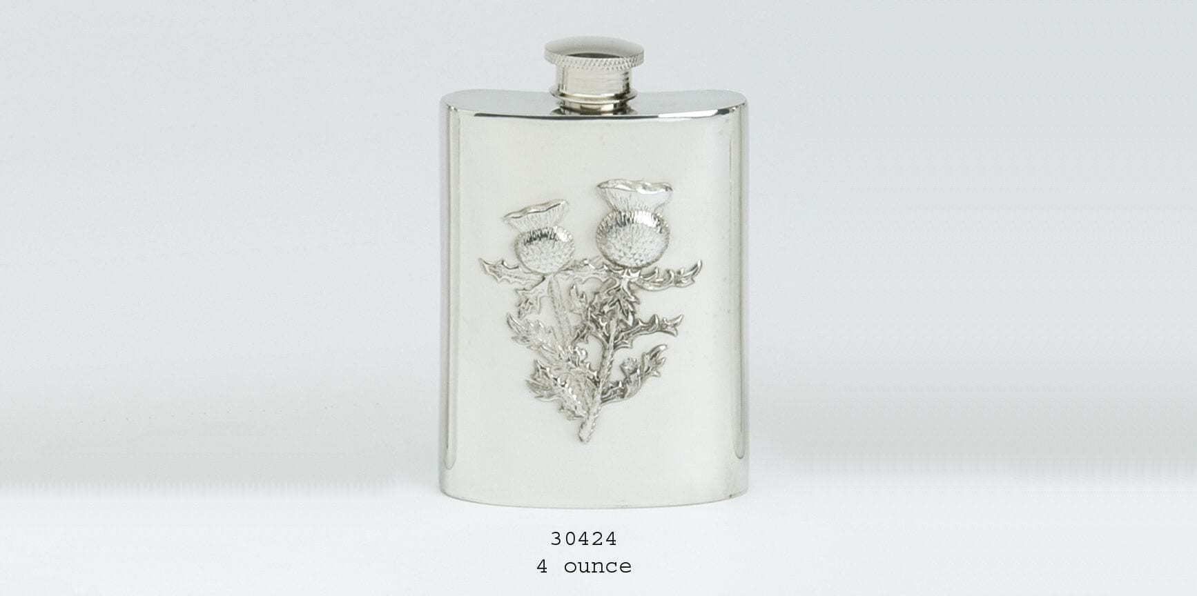 4oz Thistle Hipflask
