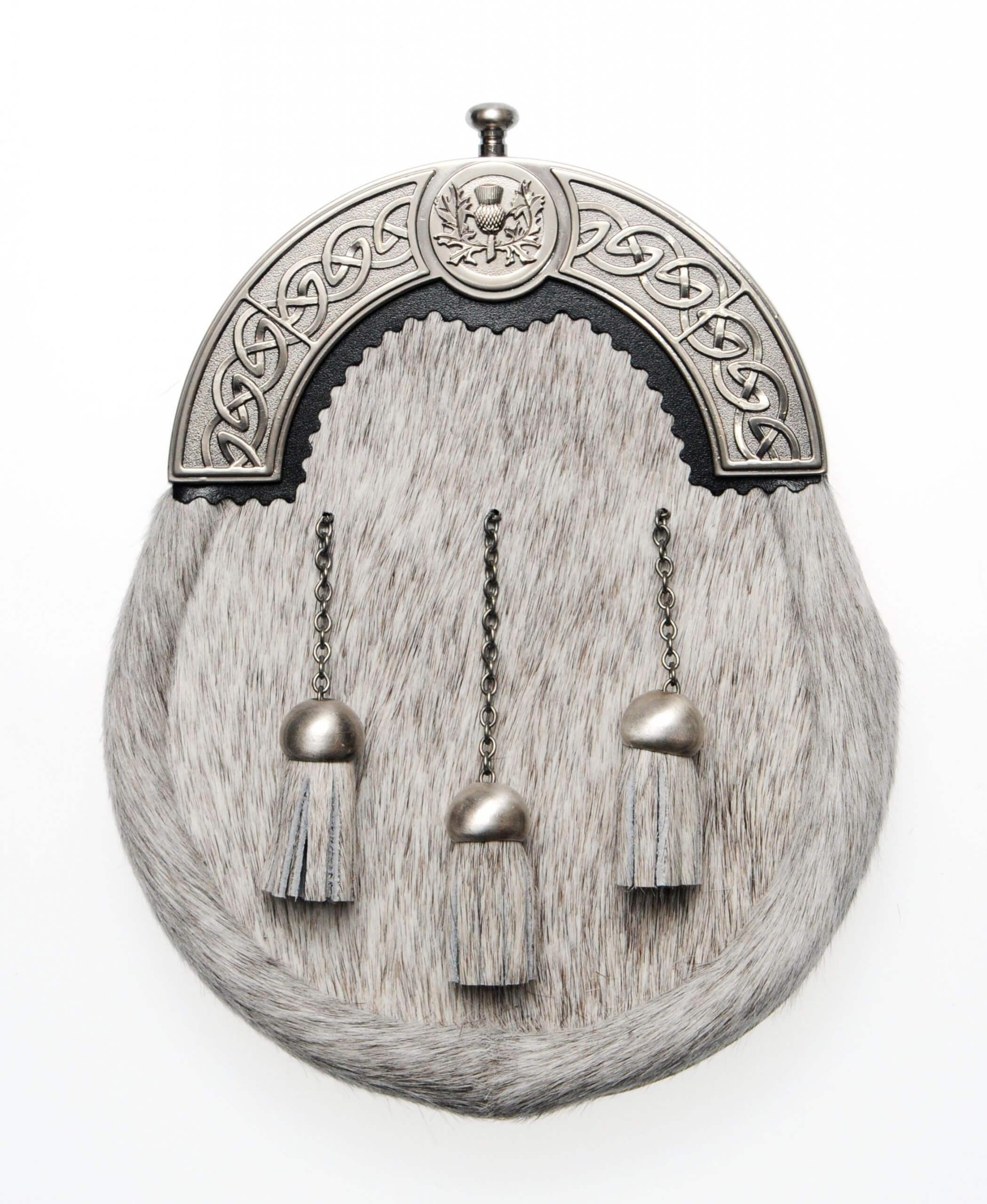 Thistle Dress Sporran Antique Cantle