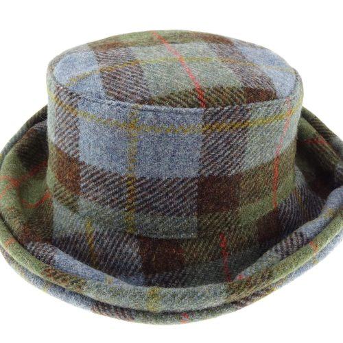 Harris Tweed Ladies Cloche Hat - Tartan