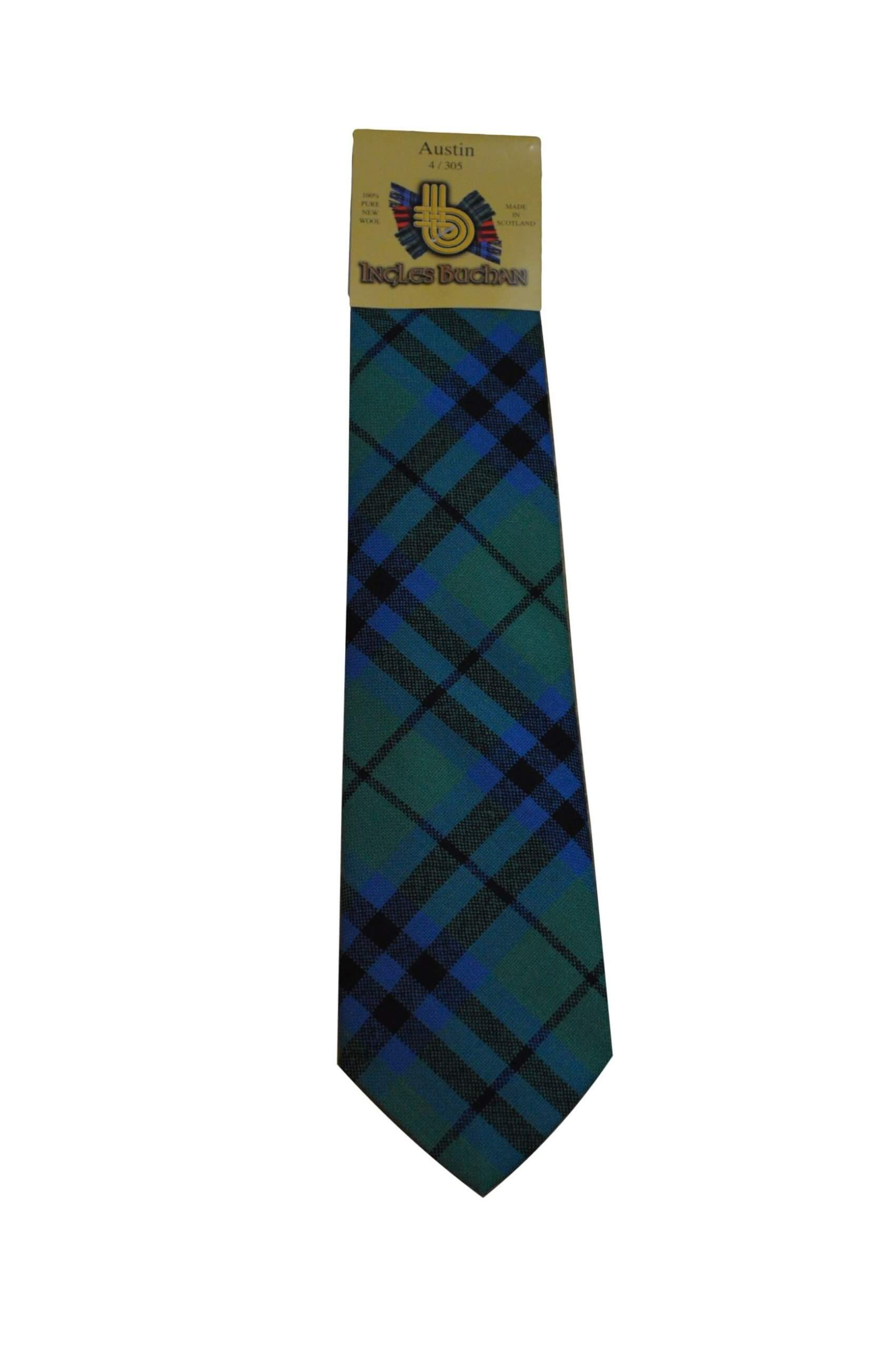 Men's Wool Tartan Tie - Austin Ancient