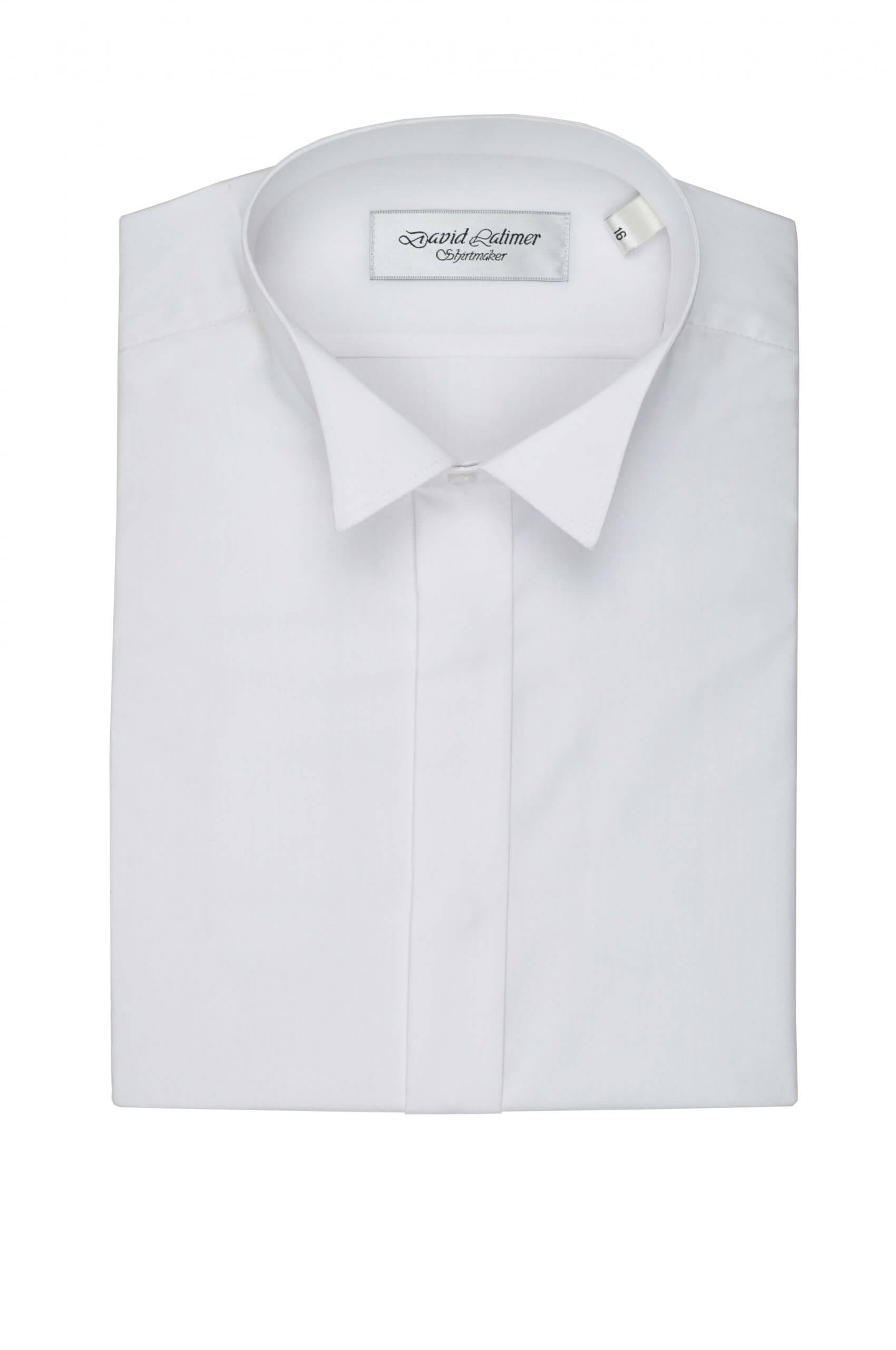 Plain Front Dress Shirt, in Standard or Wing Collar
